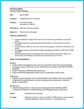 resume for assistant property manager (8)