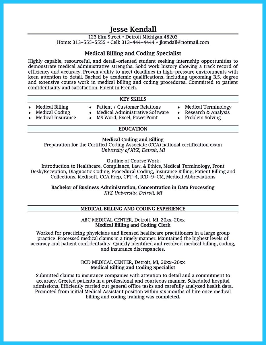 Resume For Billing Specialist With Insurance Billing Specialist Resume ...  Medical Billing And Coding Resume