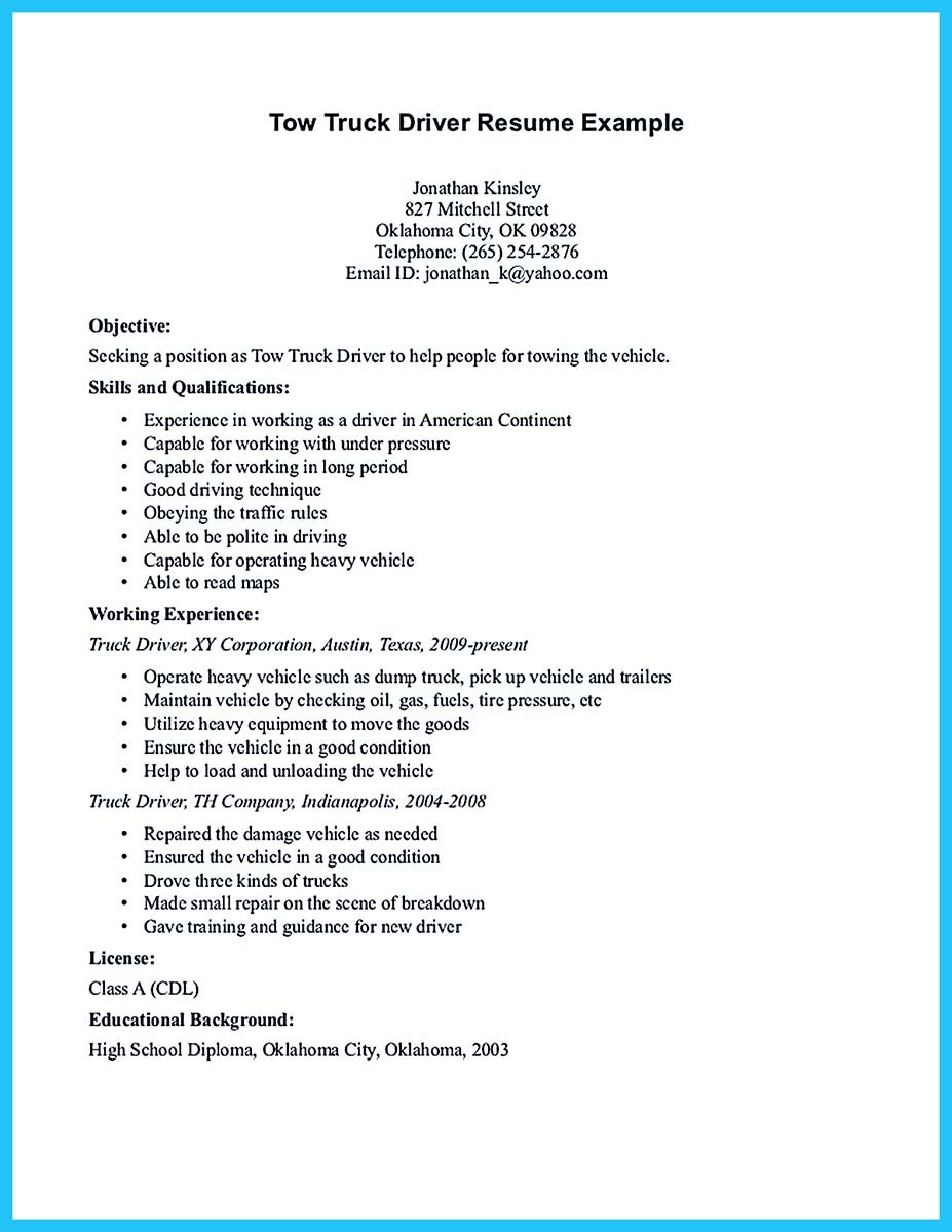 Sample Bus Driver Resume – Sample Bus Driver Resume