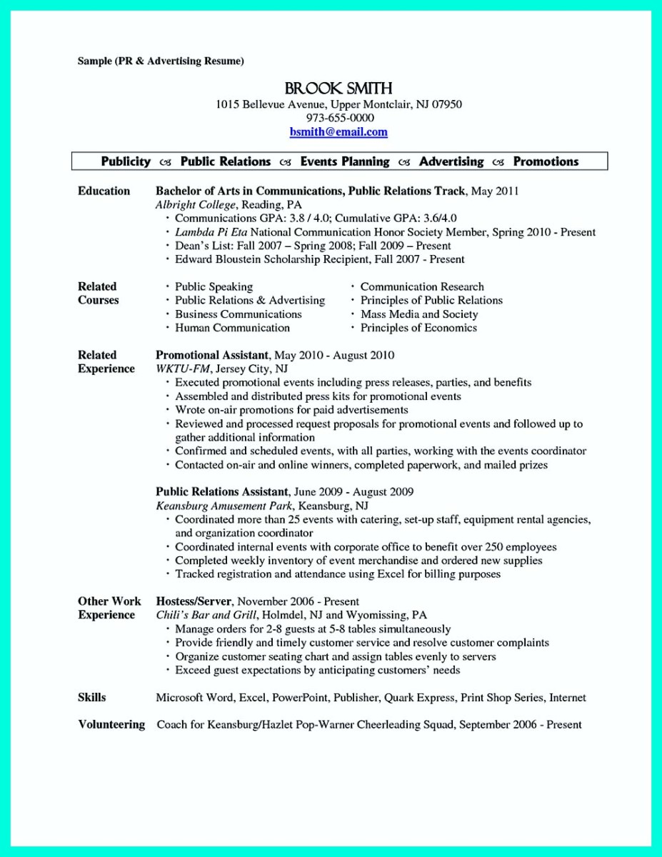 Catering Resume | Cover Letter