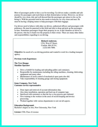 resume for cdl driver and class b cdl driver resume