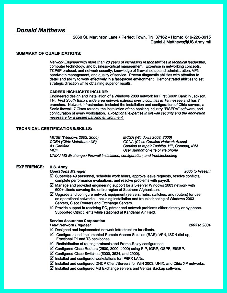 Computer engineering resume cover letter technology