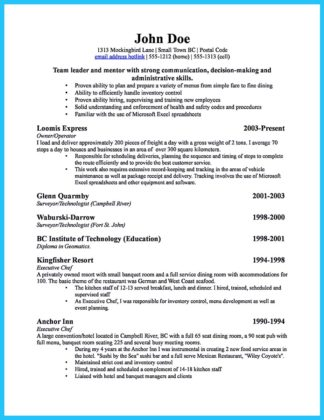retail business owner resume examples
