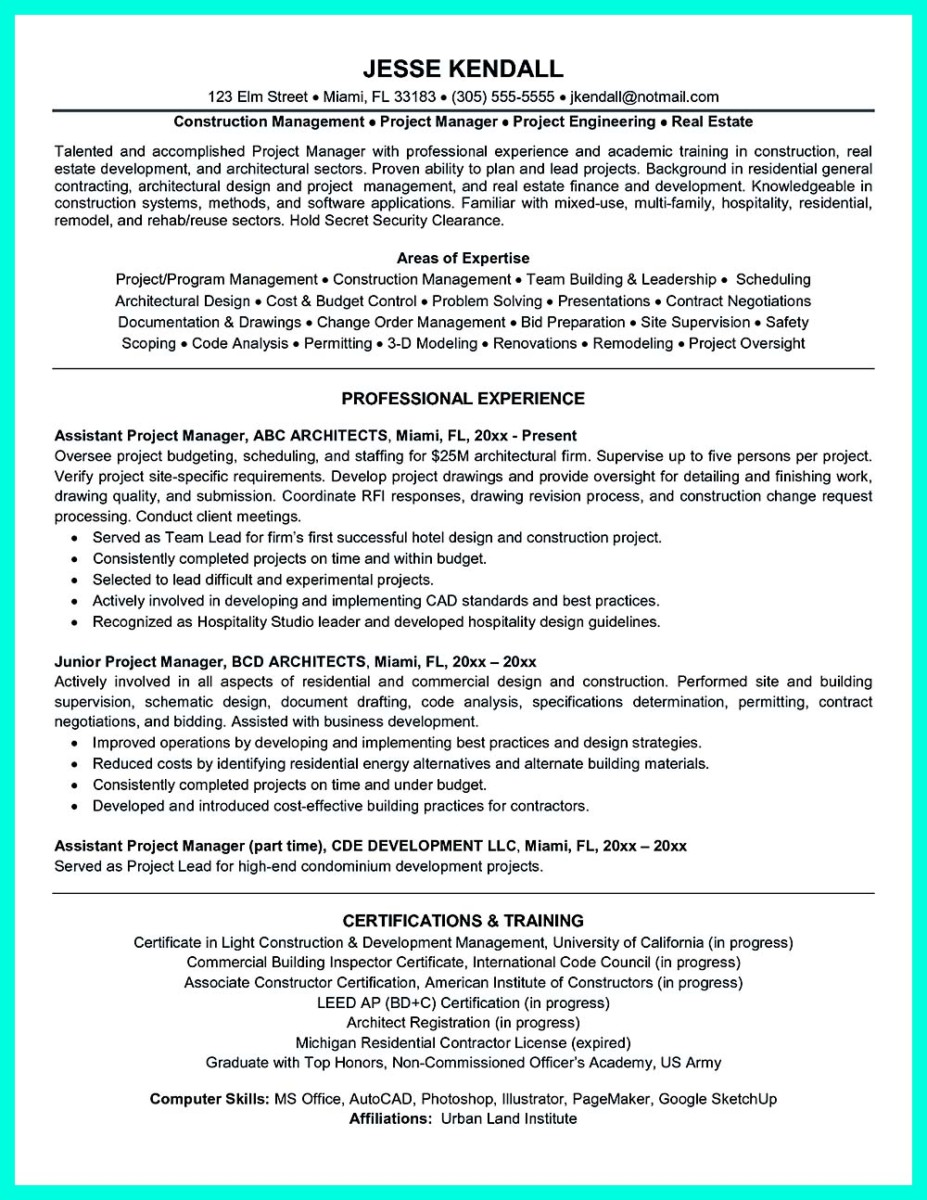 Inspiring Case Manager Resume to Be Successful in Gaining New Job – Construction Management Job Description