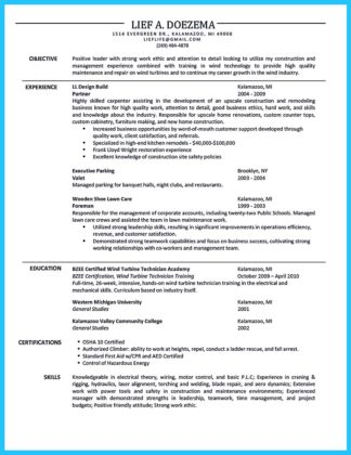 rough carpenter resume