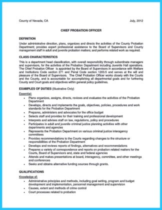 sample correctional officer resume with no experience