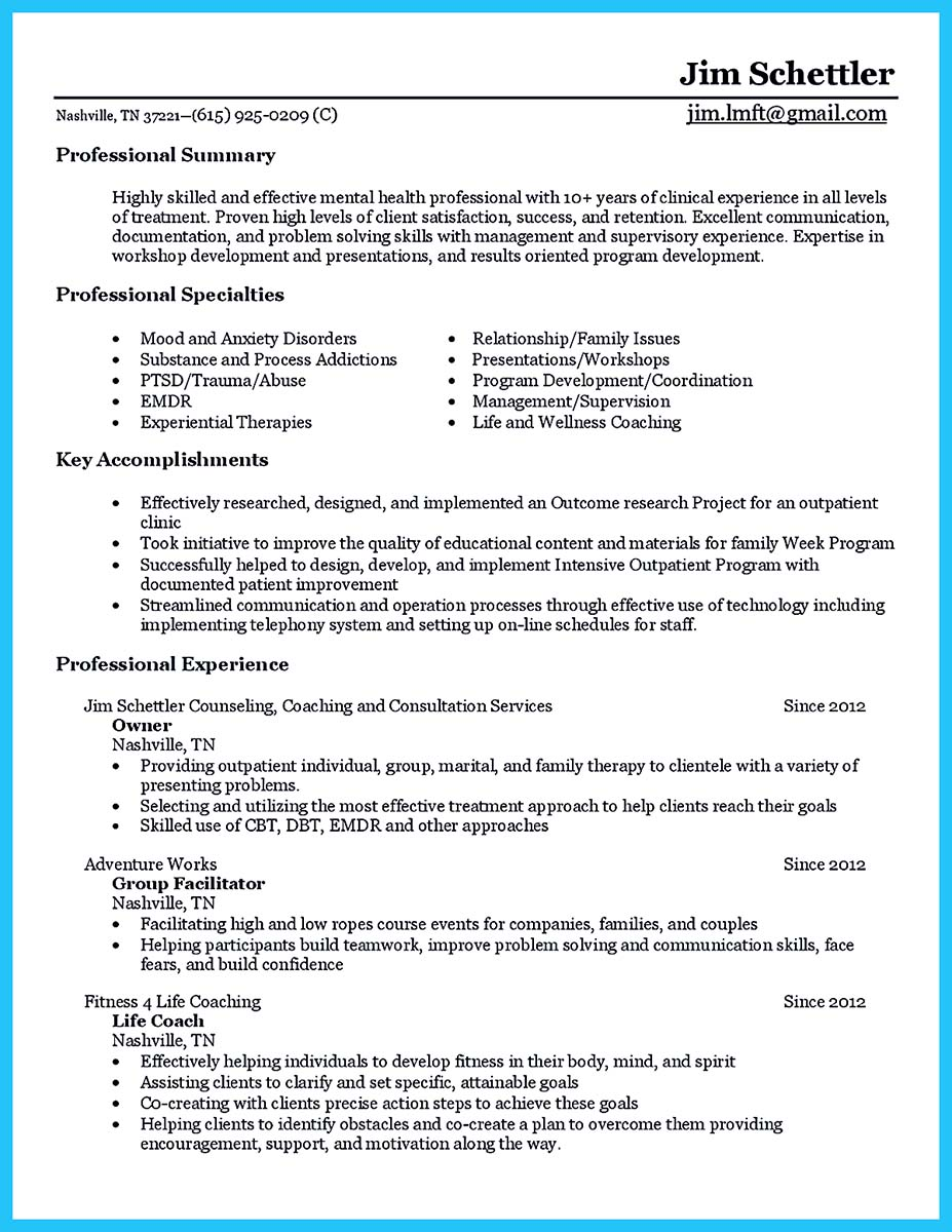 sample counseling resume objectives