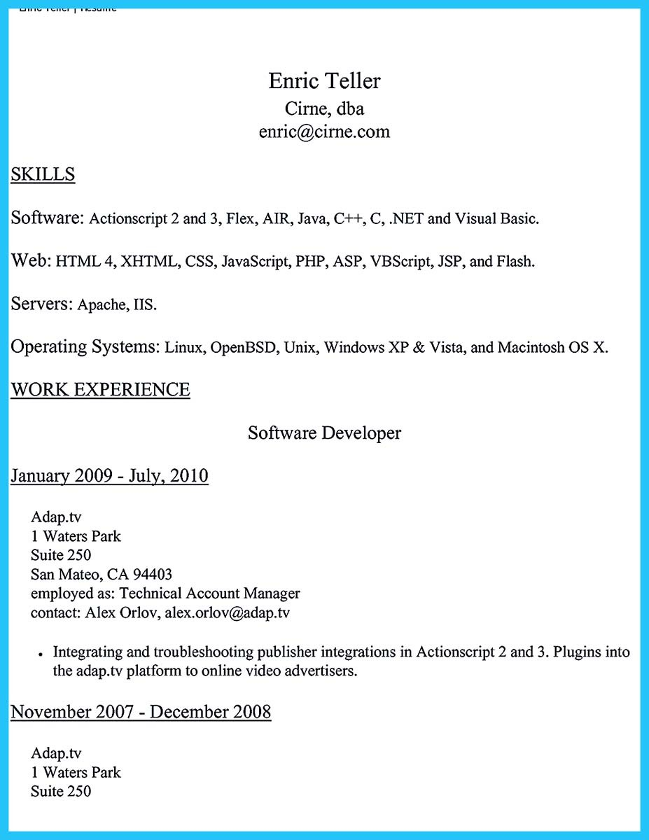 sample of a bank teller resume