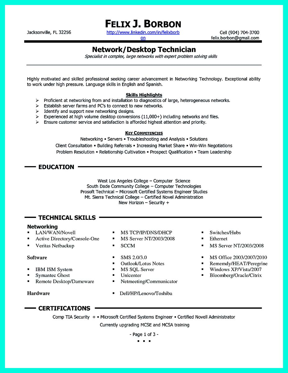 sample of computer programmer resume