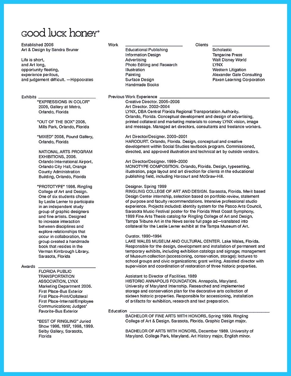 interactive director resume that can impress your employer