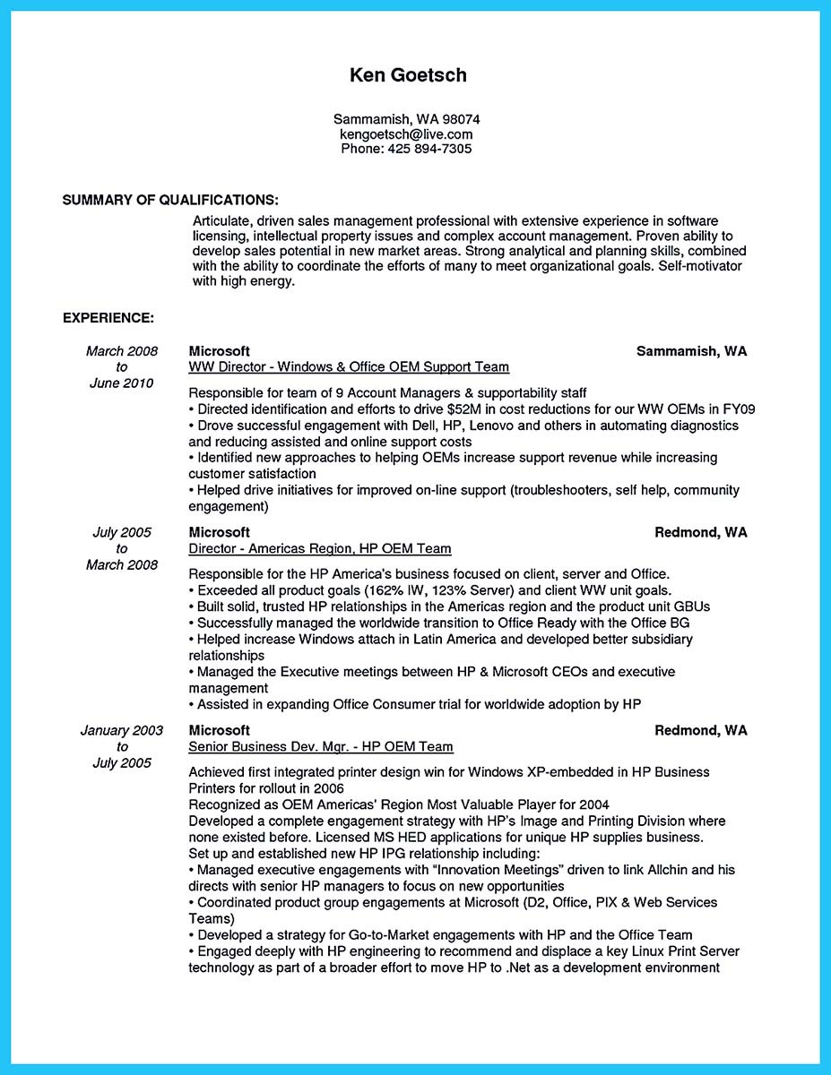 senior business development manager resume