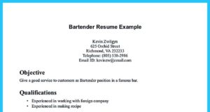 server bartender resume template and resume template for bartender no experience