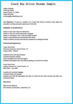 shuttle bus driver resume and heavy bus driver resume