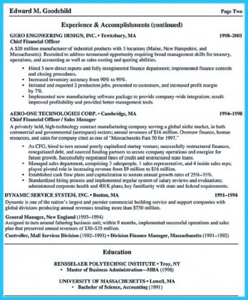 skills of business administration resume