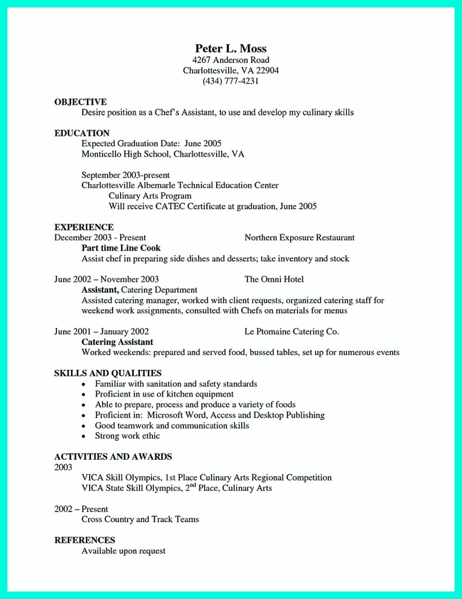 sous chef resume objective and executive chef resume cover letter chef skills resume banquet chef - Cover Letters For Chefs