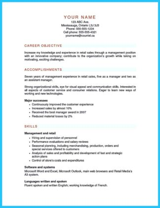 store manager resume objective and resume for assistant store manager retail
