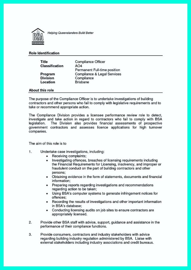 tax compliance officer resume