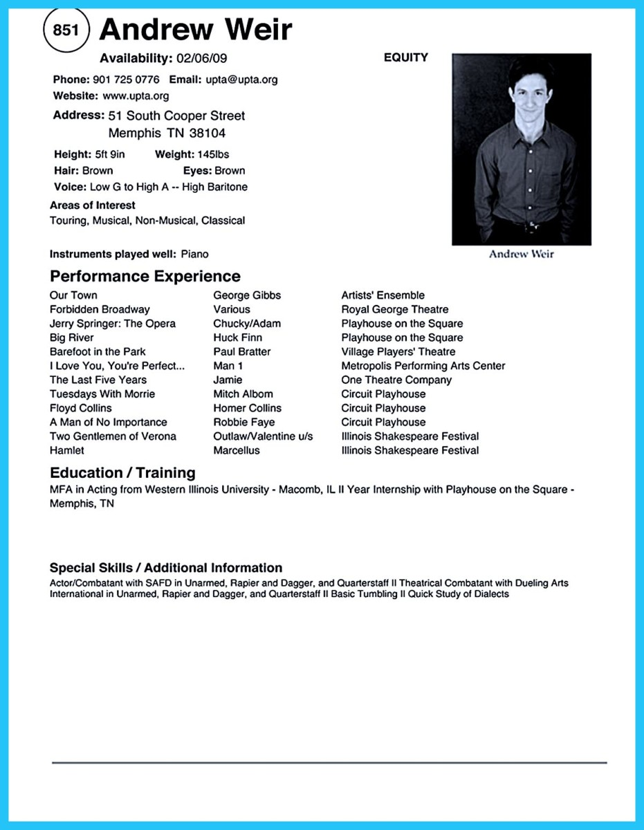 art teacher resume template