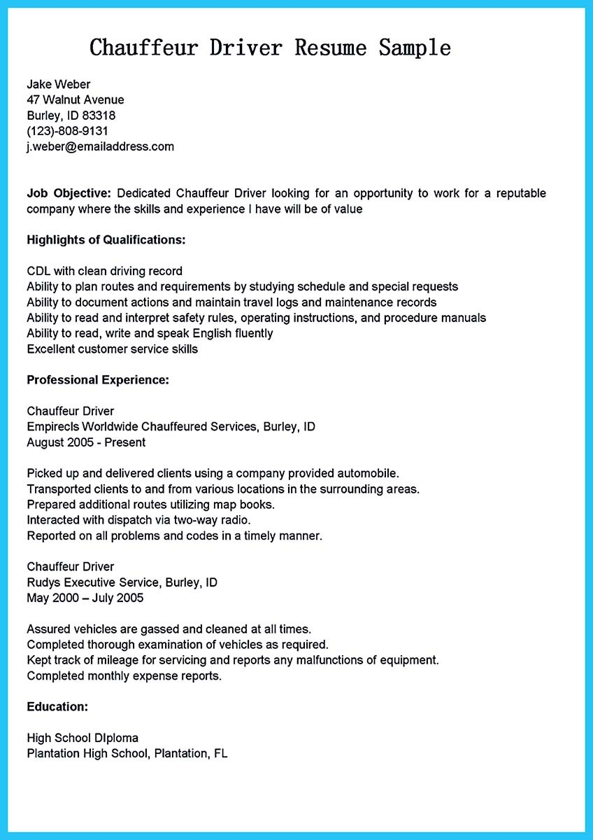Bus Driver Resume otr truck driver job description job resume – Sample Bus Driver Resume