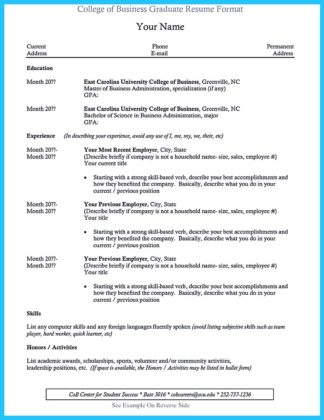 university of alabama business school resume