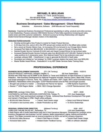 used car sales resume example