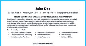 used car salesman resume