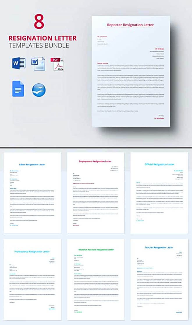 30+ Letter Of Resignation Template Free Download | How To Write A