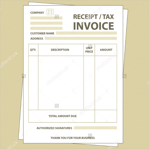 Blank paper tax invoice formBlank paper tax invoice form