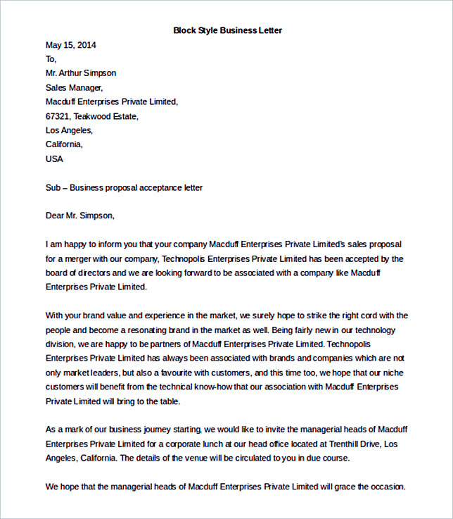 38 business letter template options know which format to use block style business letter template ms word download stopboris Gallery