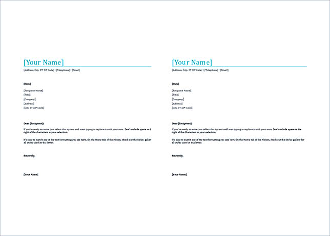 Bold Letterhead Template MS Word Format Download