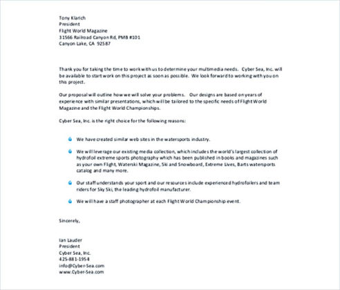 Business Letter Template PDF Free Template