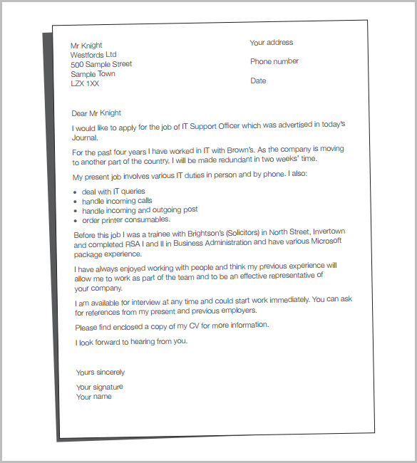 cv cover letter template for mac pdf format - Example Cover Letters For Resume