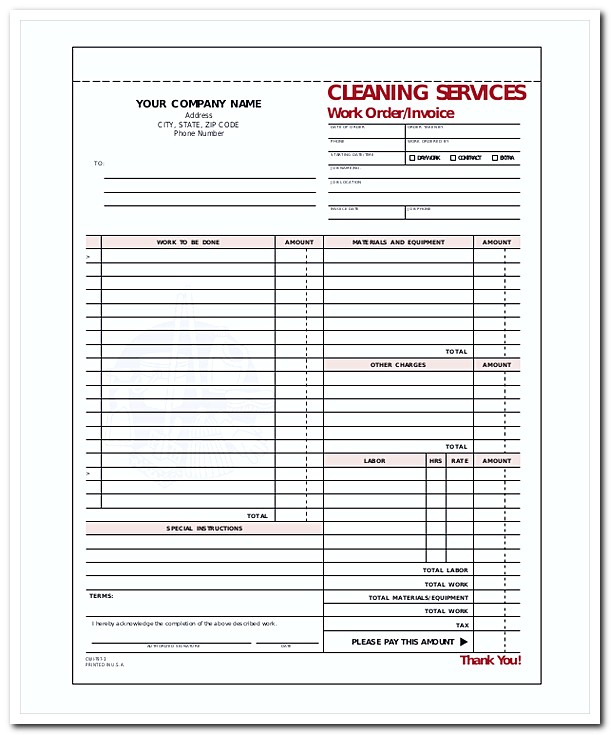 Cleaning Company Invoice Template1