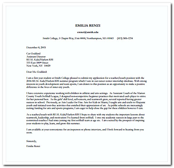 nursing college application letters