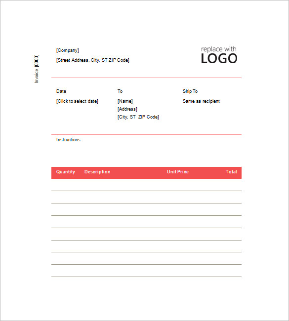 Contractor Invoice Template Free Download