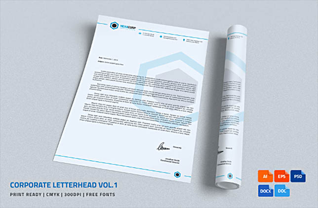 Corporate letterhead in MS Word Format