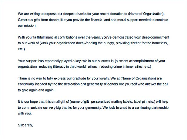 Donation Letter  How To Write A Resume In Simple Steps