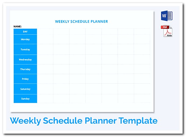 Download Blank Study Timetable Schedule Template