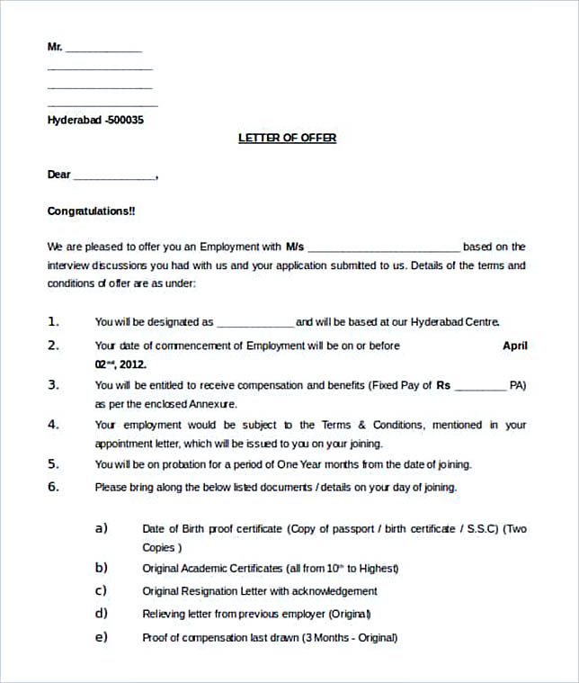 Download-Editable-Work-Offer-Letter-Template-Word-Doc-min Offer Letter Template With Commission on business purchase, executive employment, for temp position, employee job, temporary position, executive job, simple employee, counter proposal, employer job, decline job,