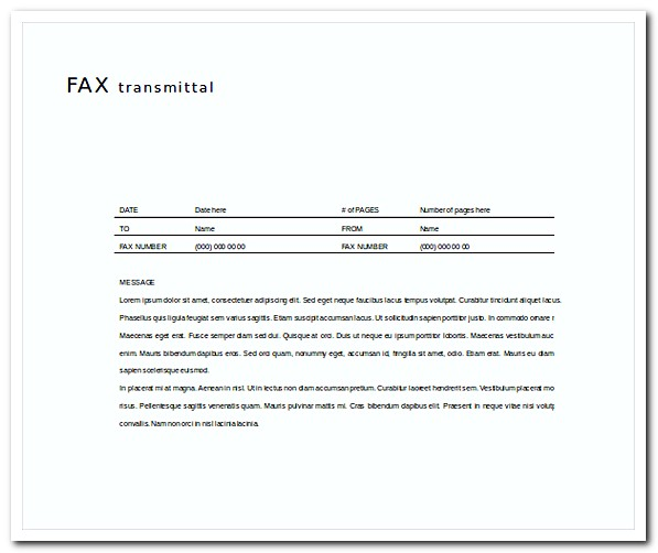 Elegant Fax Cover Letter Free Word Template Download  Cover Letter Free Template
