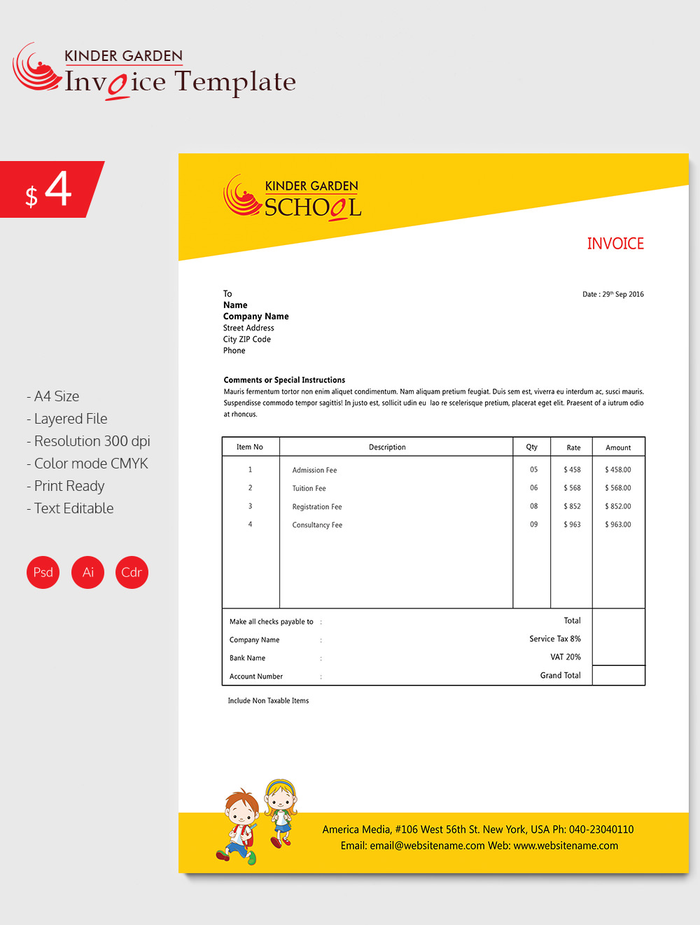 Free Invoice Template For Mac Programs - Free invoice template : free printable invoices download