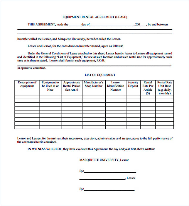 Equipment Rental Termination Letter Sample PDF Format