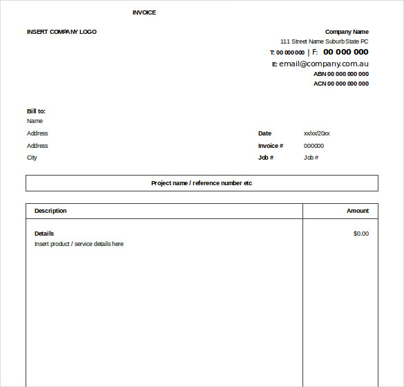 Excel Invoice Free Template