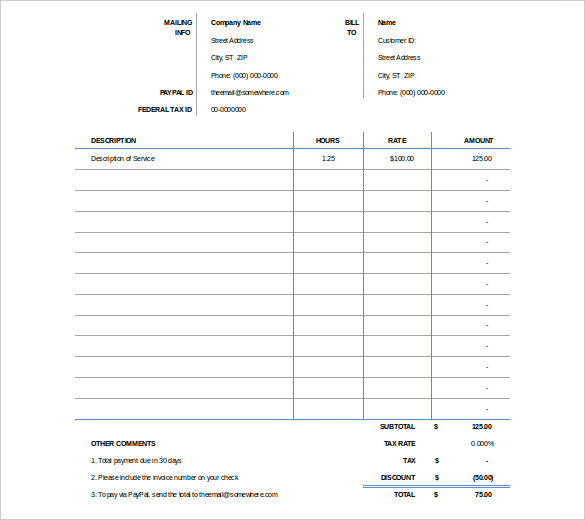 Microsoft Excel Invoice Template Free: Professional and Easy to Use  %Image Name