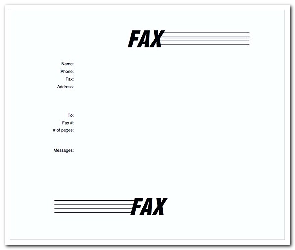Fax Cover Letter MS Word Template Free Download