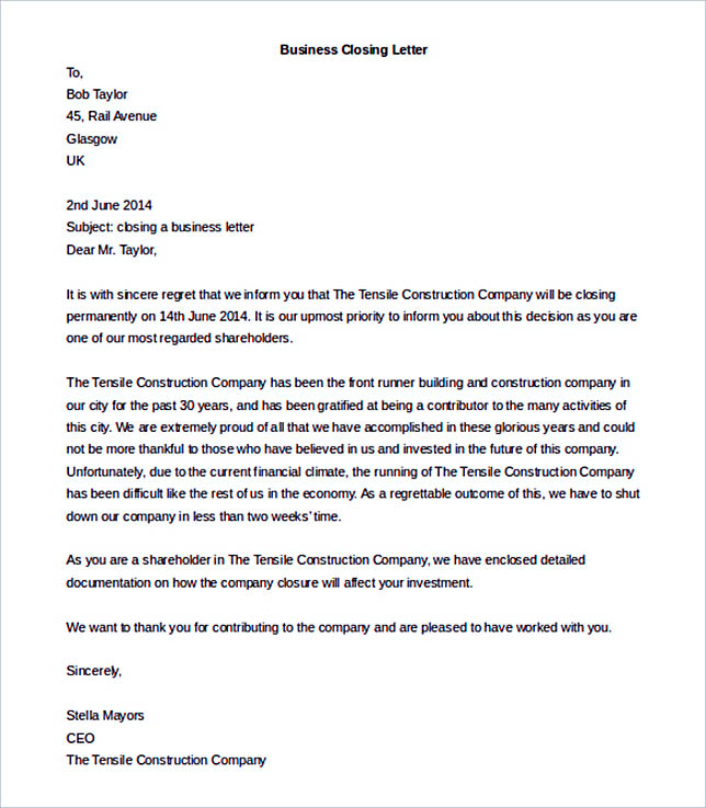 38 Business Letter Template Options Know Which Format to Use – Free Business Letter Template