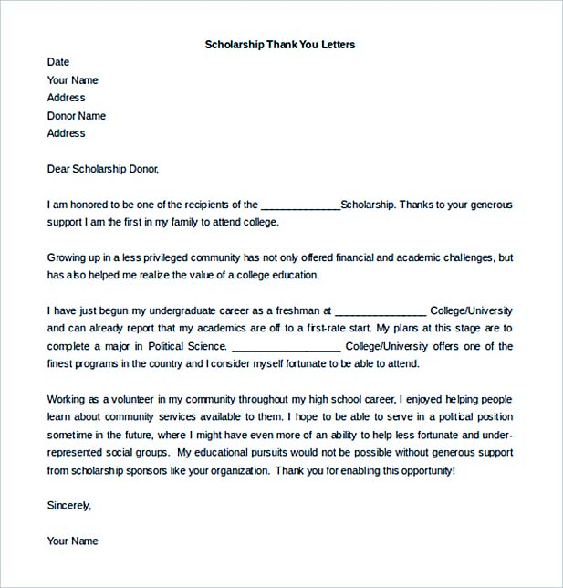 Thank You Letter Template  How To Write A Resume In Simple Steps