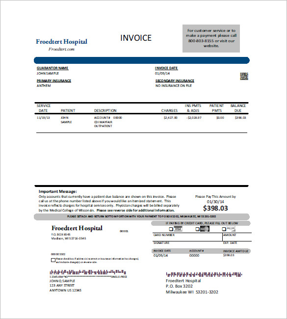 Free Medical Billing Invoice Forms