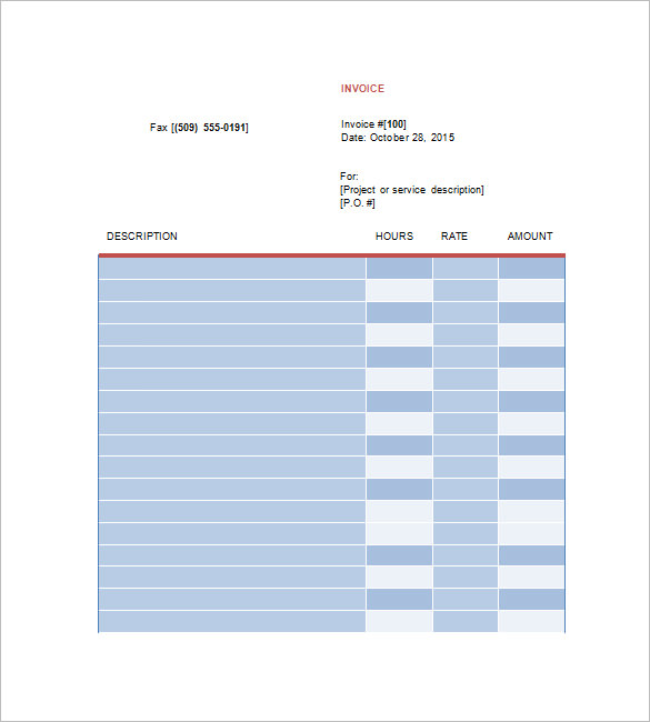 Graphic Design Freelance Invoice Template