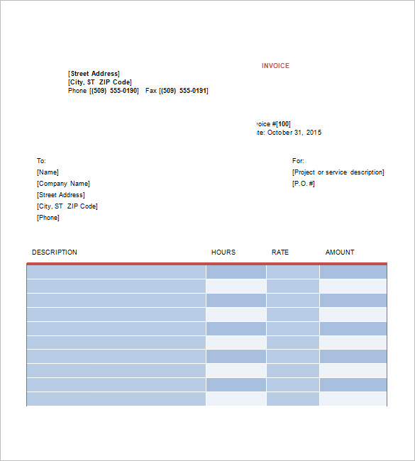 Graphic Design Invoice Template Free Download